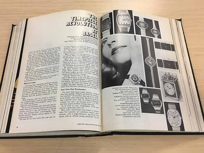 The Timepiece Revolution at Basel article from JCK May 1973 issue