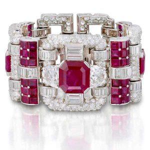 Van Cleef & Arpels ruby and diamond bracelet