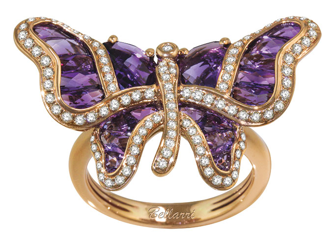 bellarri amethyst butterfly ring