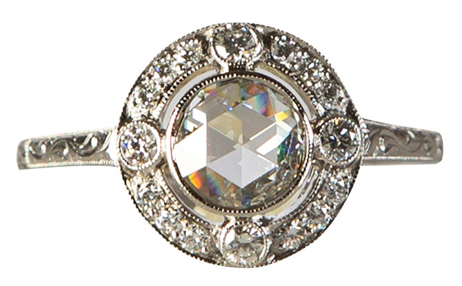 carreras jewelers estate engagement ring