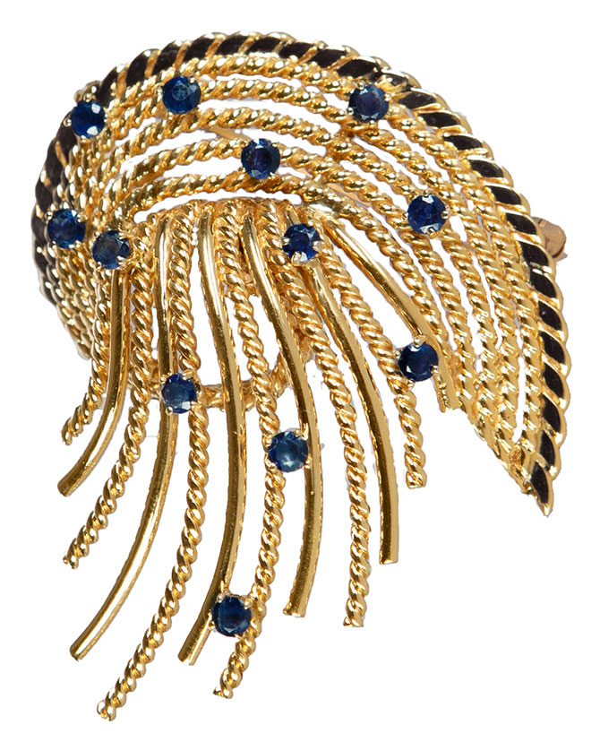 carreras jewelers estate spray brooch