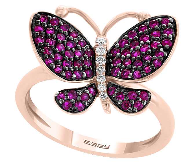 effy ruby butterfly ring