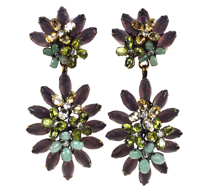 iradj moini amethyst flower earrings