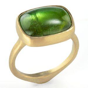 judi powers corazon green tourmaline cabochon ring