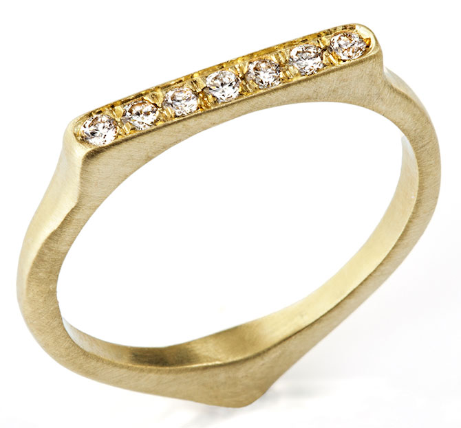 judi powers corazon stacking ring 18k green gold diamonds
