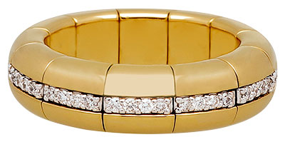 roberto demeglio 18k yellow gold ring with diamonds