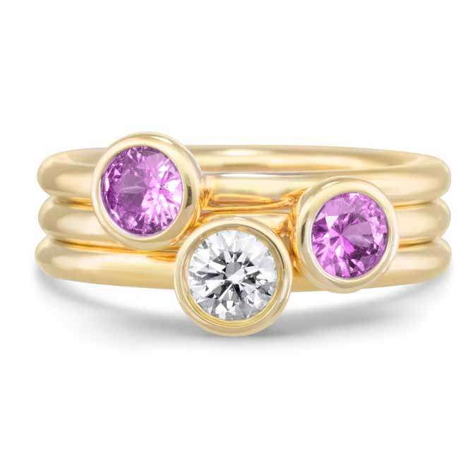 Annie James stacking rings