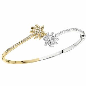 Shefi Diamonds palm trees bypass bracelet