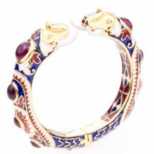 Hatai Jewelry elephant enamel bracelet