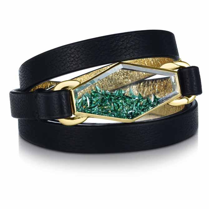 Moritz Glik emerald shaker bracelet