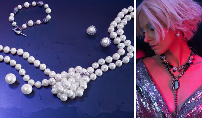 Carolee pearls and campaign imagery