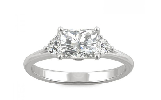 Charles and Colvard east west Signature ring