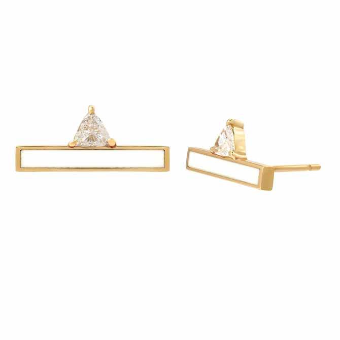 Kaura Jewels Devotion bar earrings