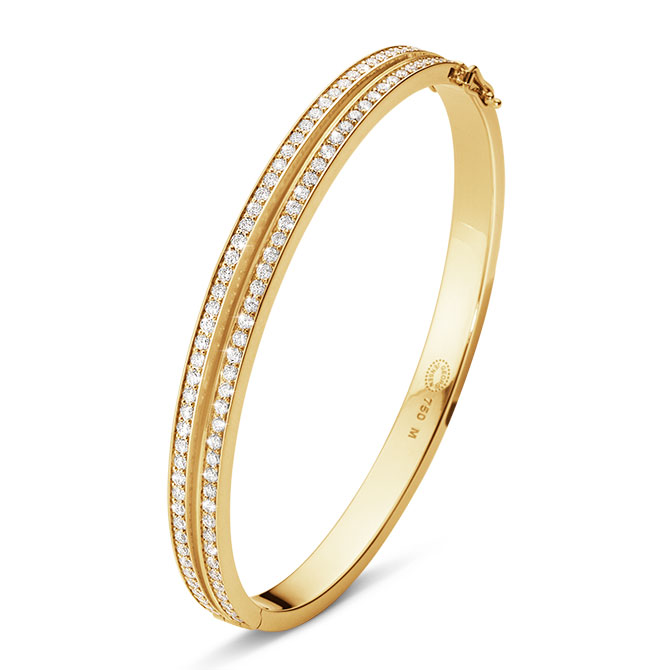 Georg Jensen Halo bangle with diamonds