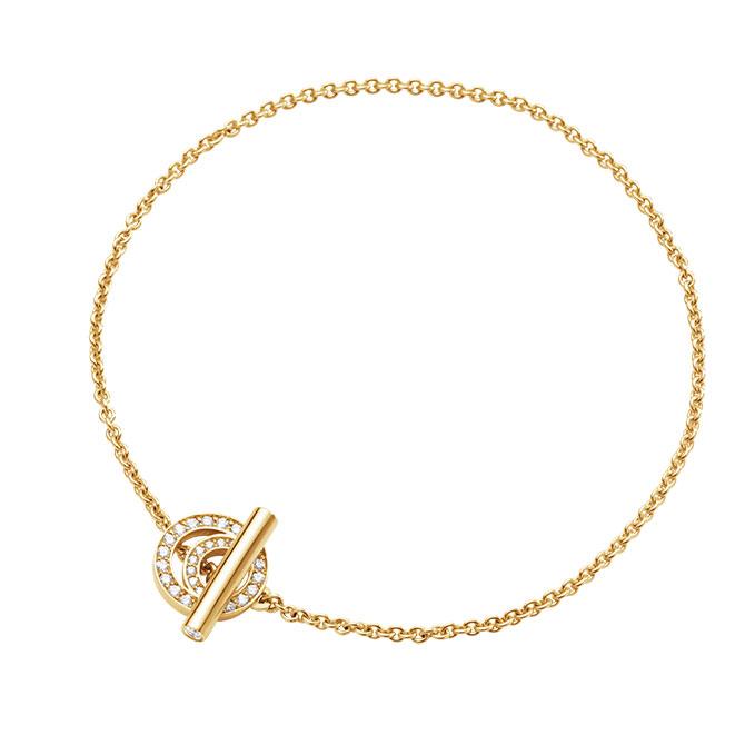 Georg Jensen Halo bracelet with diamond clasp