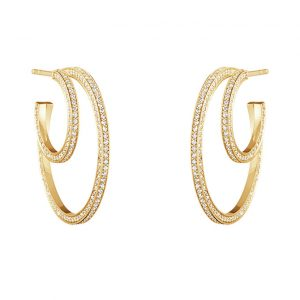 Georg Jensen Halo hoops with diamonds