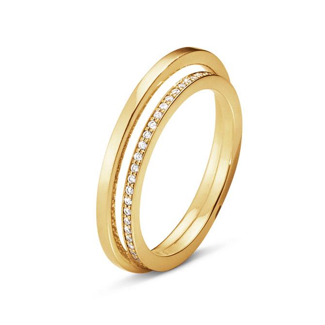 Georg Jensen Halo ring with diamonds