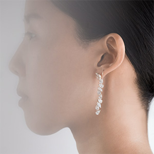 Grace Lee x Diamond Foundry earrings