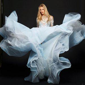 Hayley Paige instagram blue dress