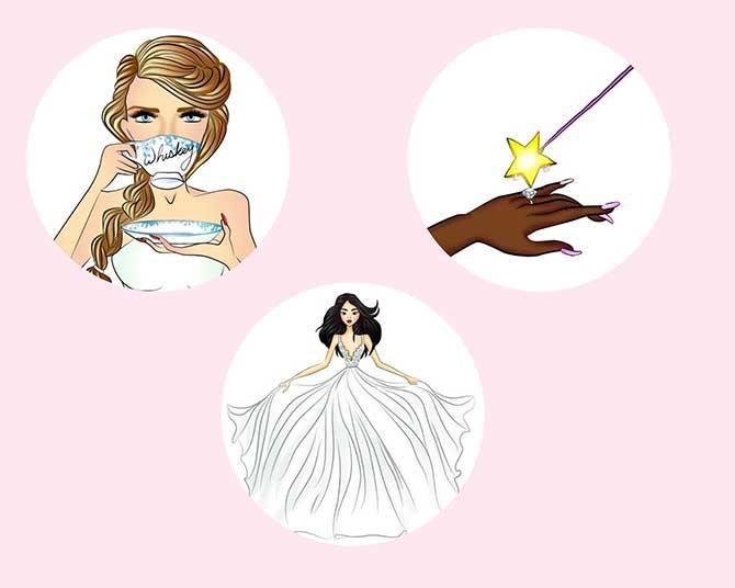 Hayley Paige wedding emojis