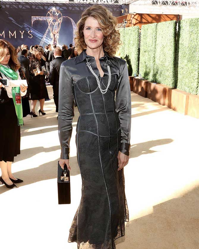 Laura Dern at Emmys via Simone Siegl