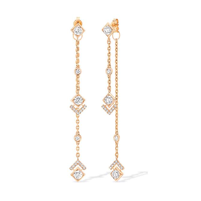 Messika x Gigi Hadid chain earrings