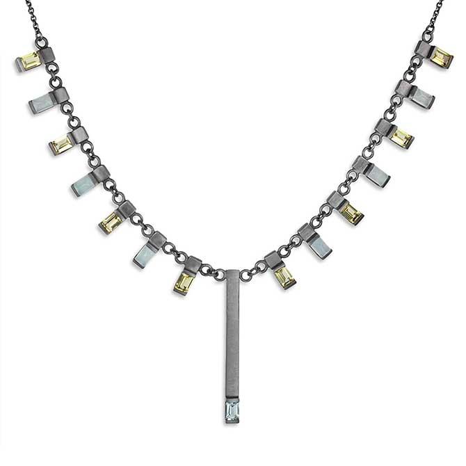 Nataly Aponte aquamarine necklace