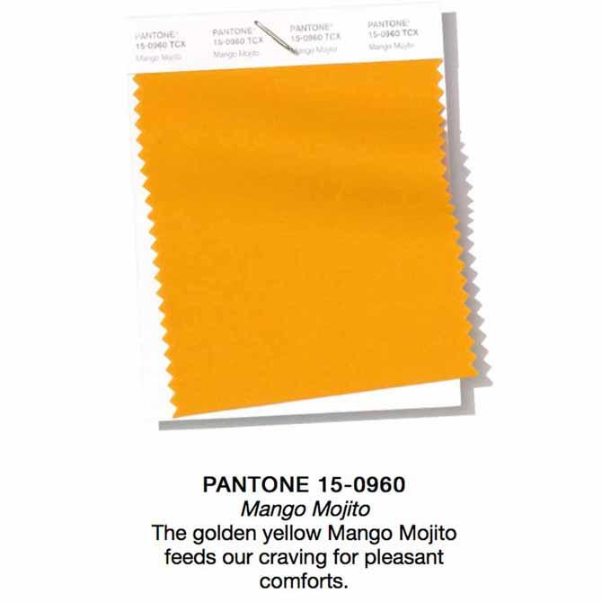 Pantone 2019 SS Mango Mojito