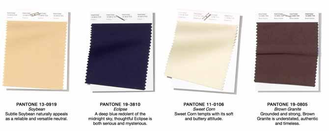 Pantone SS19 neutrals