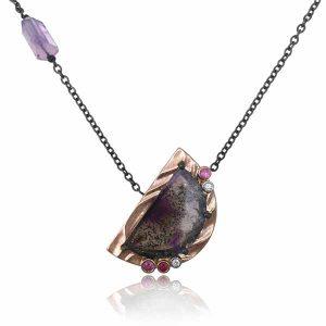 K Mita Purple Moon necklace