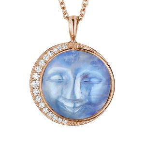 Penny Preville Man in the Moon pendant