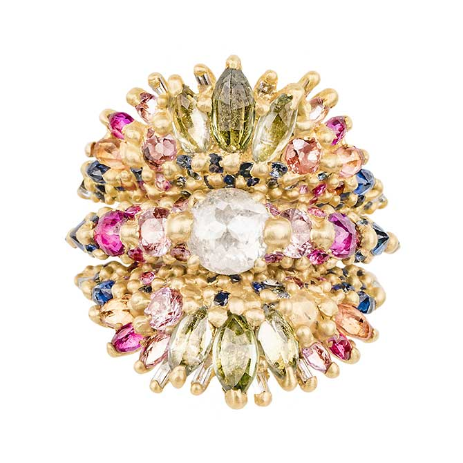 Polly Wales La Divine ring stack