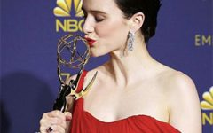Rachel Brosnahan Tiffany earrings Emmys