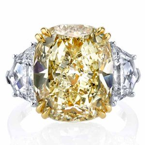 Joshua J cushion cut diamond ring