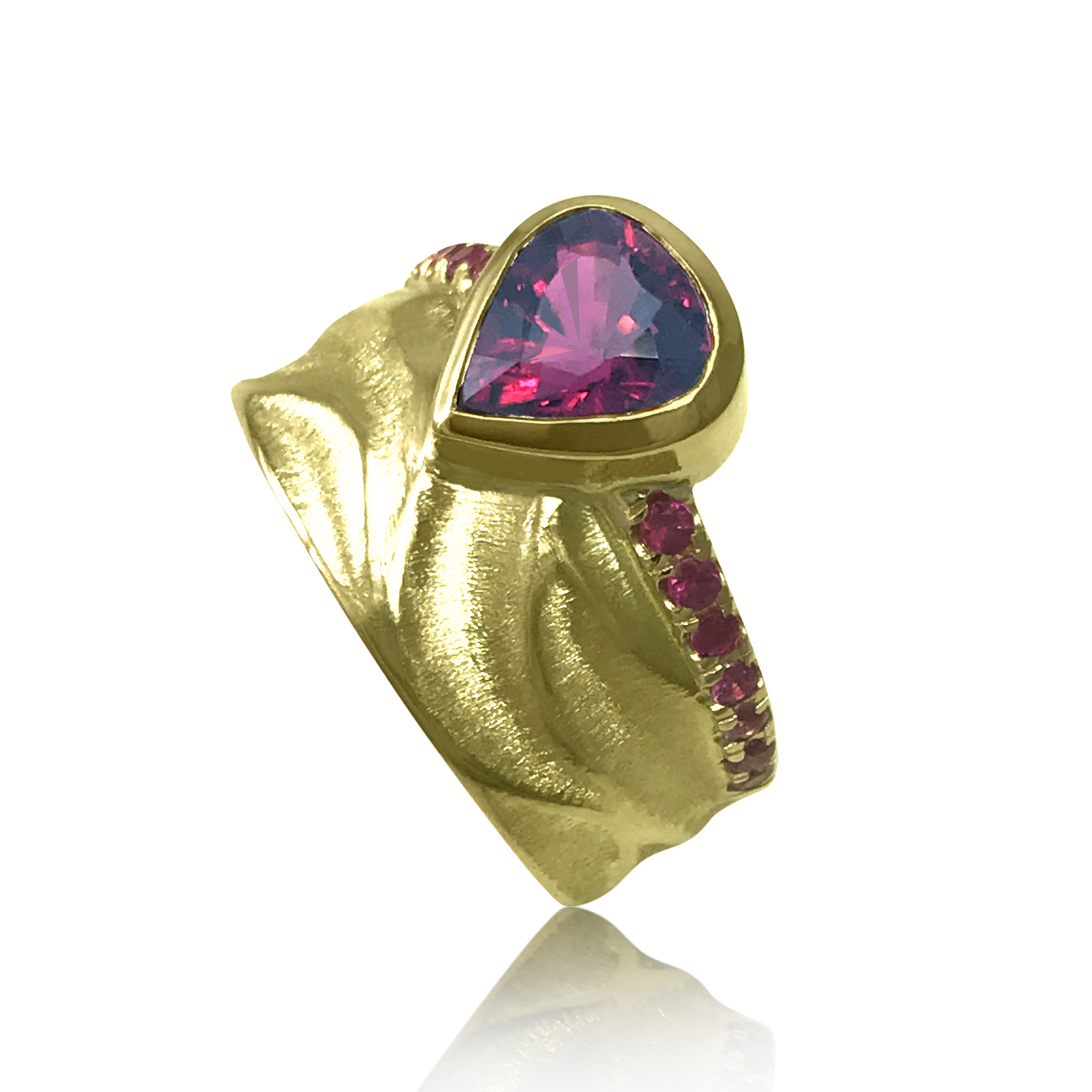 K Mita Royal PInk Crown ring
