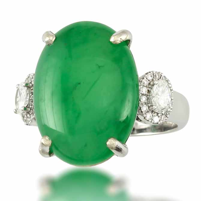 Mason-Kay oval jade ring