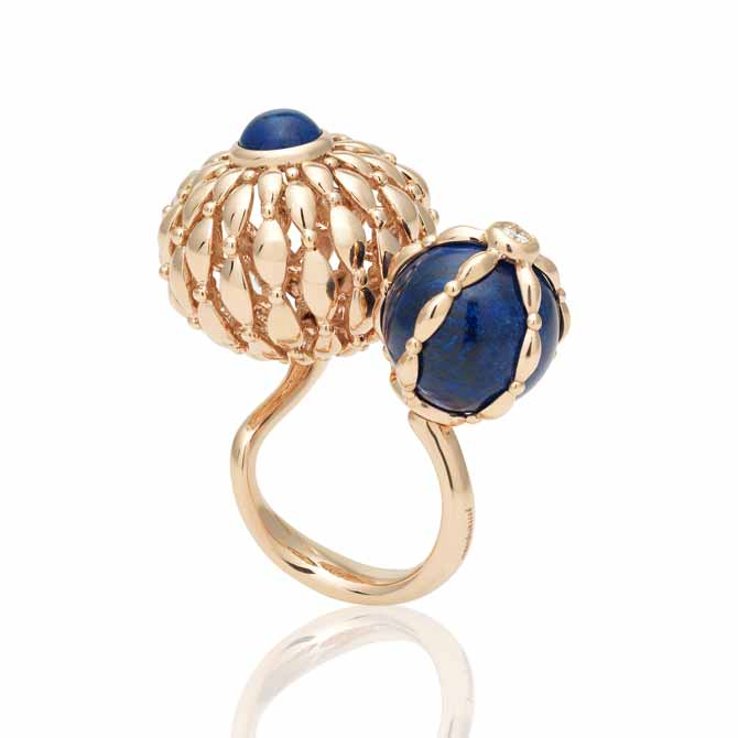 Ferrari Twist collection lapis ring