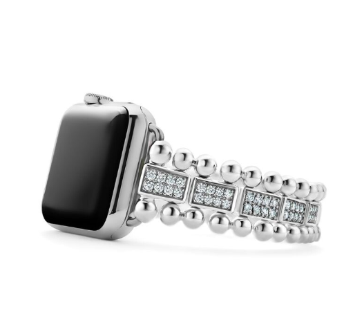 Lagos diamond-studded Smart Caviar bracelet