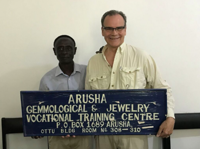 Roger Dery Arusha Gemmological & Training School in Tanzania