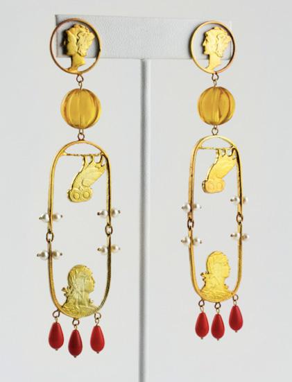 Stacey Lee Webber Oscar de la Renta earrings
