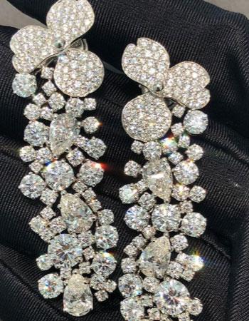Tiffany Co Paper Flowers earrings