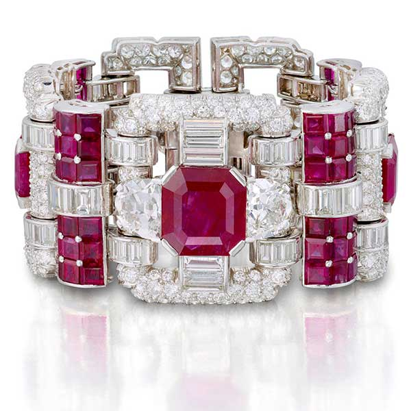 Van Cleef & Arpels ruby and diamond bracelet