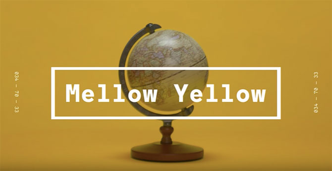 WGSN Coloro 2020 color forecast Mellow Yellow