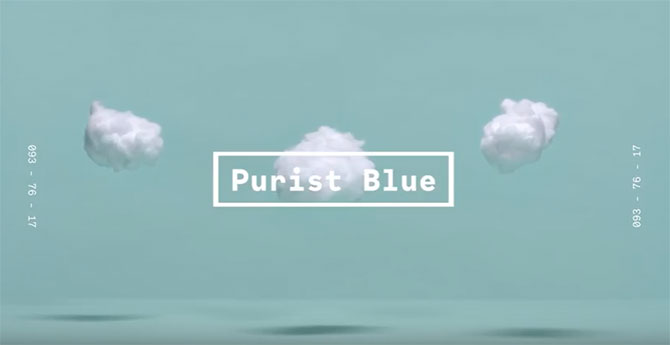 WGSN Coloro 2020 color forecast Purist Blue
