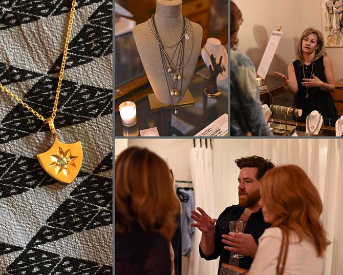 Alexis Kletjian David Ferron Golden Hour event candids and jewelry