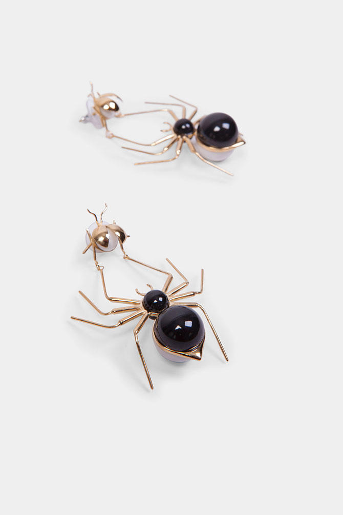 Andres Gallardo spider earrings