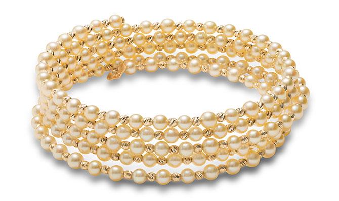 Baggins golden baby akoya coil bracelet