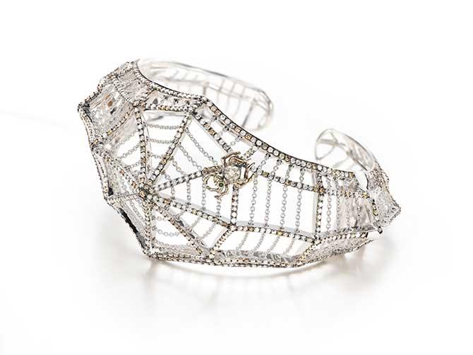 Bibi van der Velden cobweb bracelet