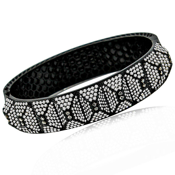 Sutra blackened diamond bracelet