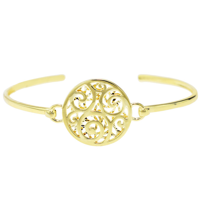 Sechic gold medallion bracelet